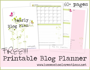 Homeschool Creations Blog-Planner
